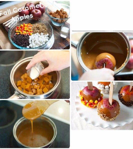 4. А вот вариант подачи к столу целых яблок в карамели. Для большего эффекта можно сверху украсить карамель орешками, шоколадной стружкой или зефиром.