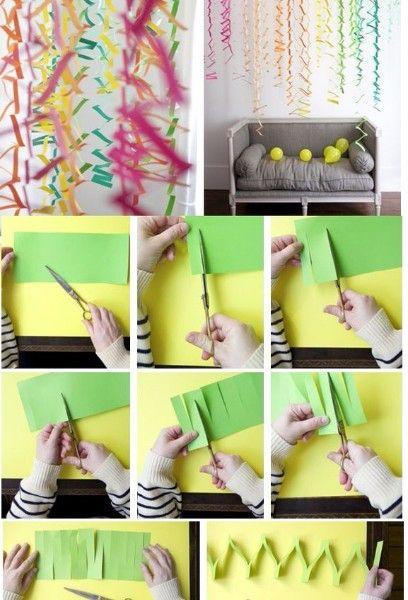 Шторы-гирлянды из бумаги своими руками
