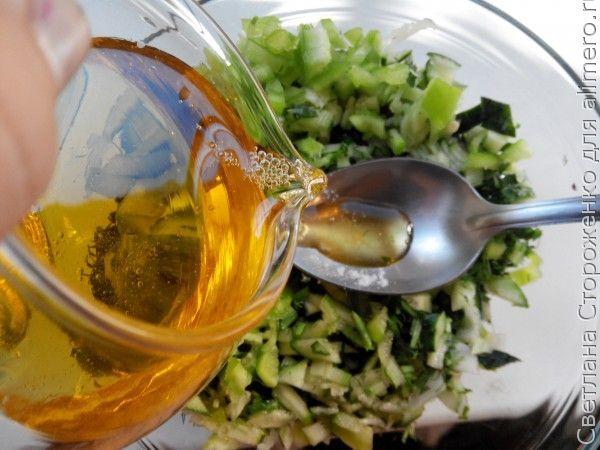 зеленый салат со свекольной ботвой