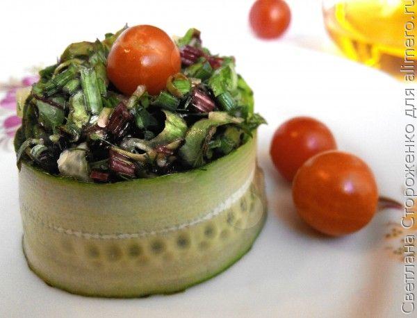 рецепт салата с свекольной ботвой