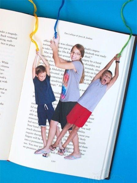 1.Забавные закладки. Закладки из фото членов семьи прекрасно подойдут на подарок нашим любимым бабушкам и дедушкам. Сколько удовольствия они получат во время прочтения любимой книги, в сопровождении таких очаровательных закладок.