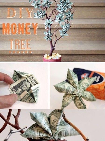 17. Денежное дерево. Такому денежному дереву будут рады все! Разве нет? А сделать его проще простого!