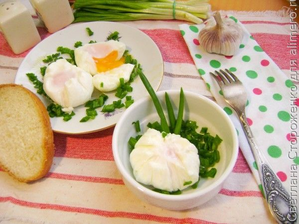 Яйцо пашот в пленке