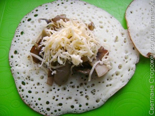 Блинчики с грибами