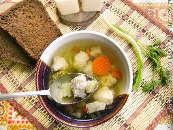 Суп с фрикадельками из кролика