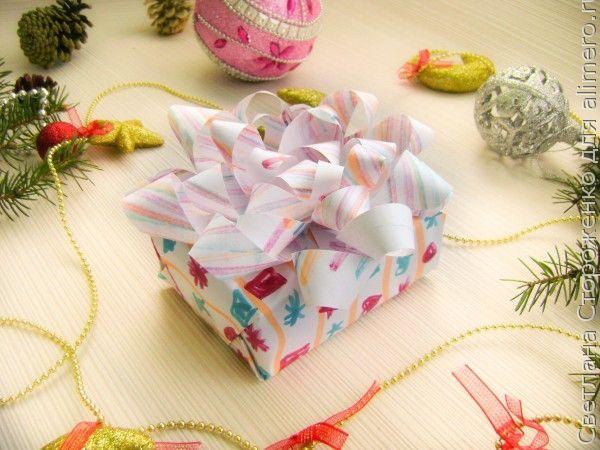 Новогоднее оформление подарка своими руками