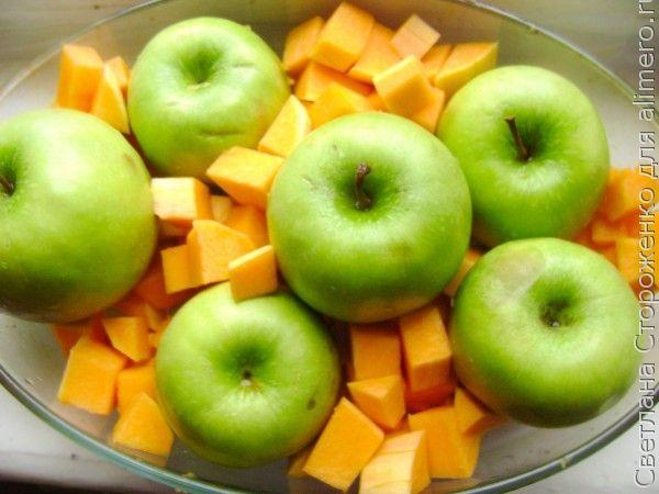 Печеные пирожки с яблоками и тыквой