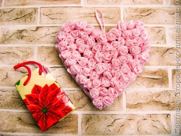 Валентинка из салфеток