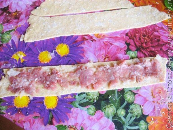 Ленивые манты на овощной подушке