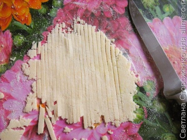 Рисовая лапша домашняя с овощами