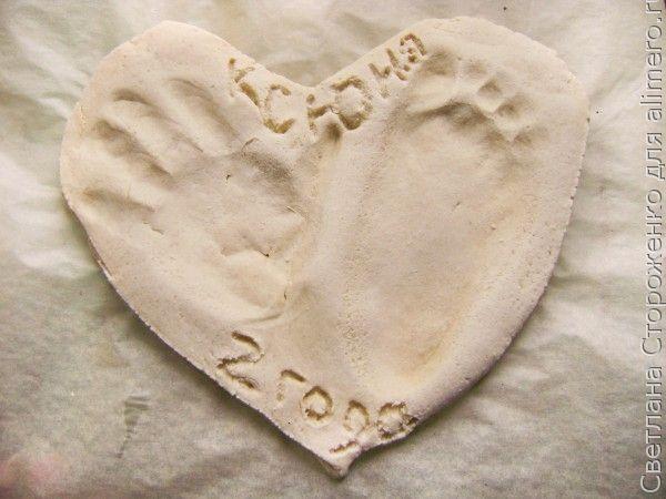Поделки из соленого теста «Слепок рук и ног ребенка»