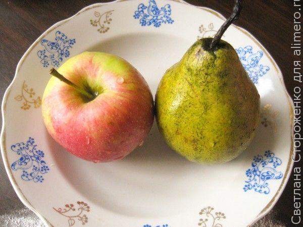 Дрожжевые булочки с яблоком и грушей