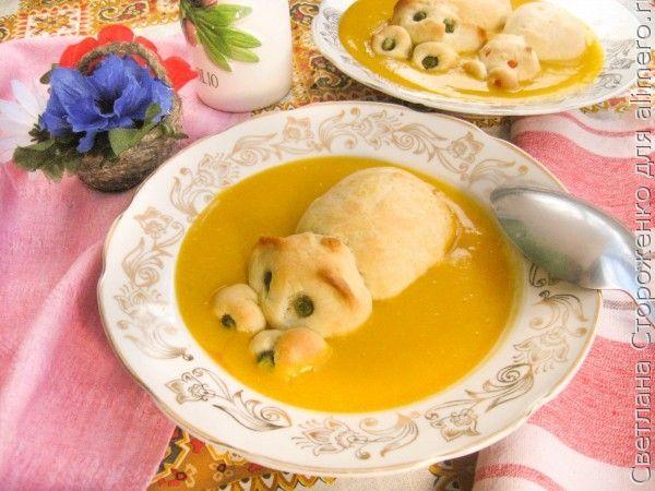 Овощной суп-пюре с бегемотами