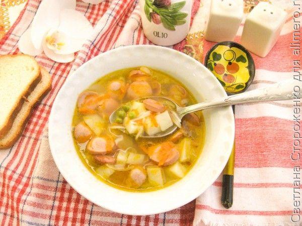 Суп с сосисками быстрый
