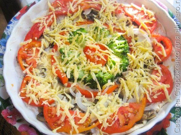 Овощная пицца «Радуга»