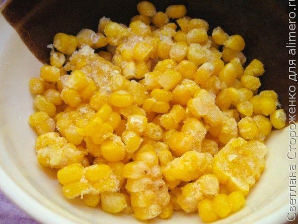 Тушеные овощи с молодой кукурузой