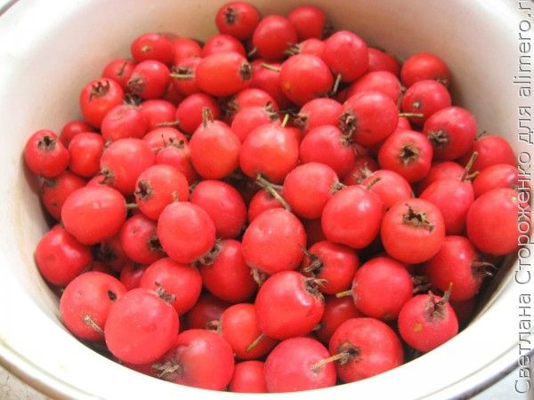 Варенье из боярышника с яблоком