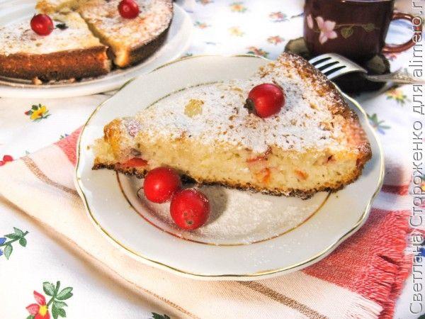 Пирог на кефире с боярышником