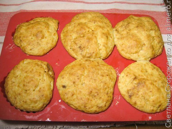 Творожные кексы с ананасом