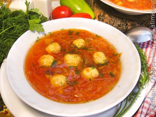 Украинский борщ с пампушками — рецепт с фото пошагово