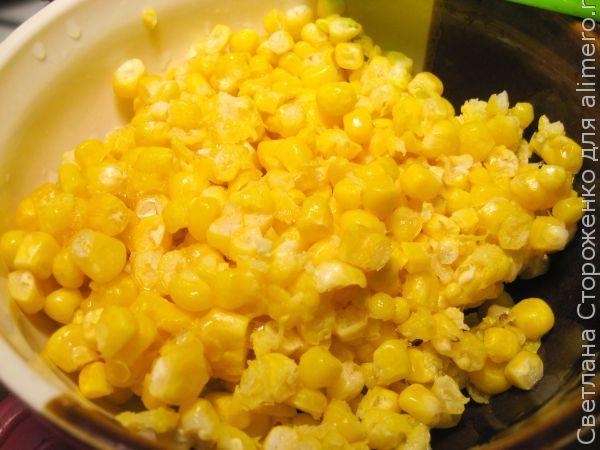Вкусный суп «Двойная кукуруза»