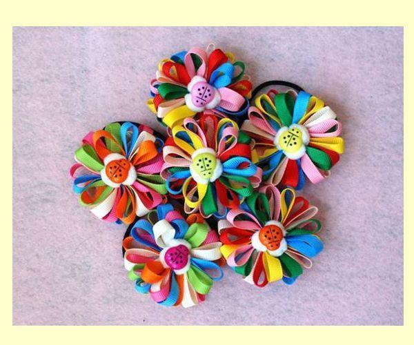 Сделать резинки с цветами своими руками фото 2