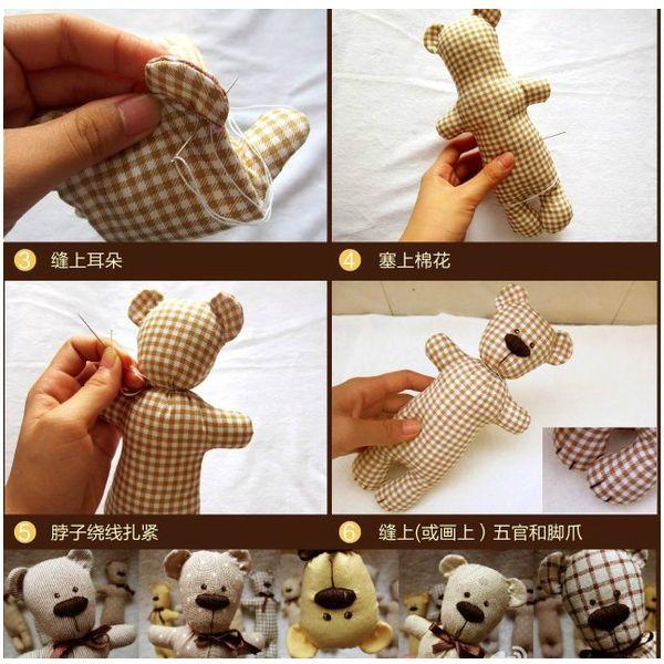 Можно пошить одежду для этого медвежонка или добавить ему несколько аксессуаров - шарф, шапку или бант на шею.