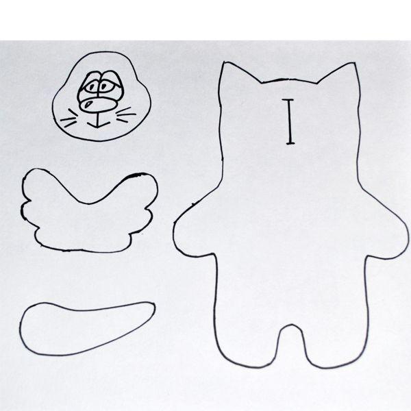 Как видите, выкройка для этой игрушки очень проста и не содержит мелких деталей. Такая игрушка очень понравится вашему ребенку!