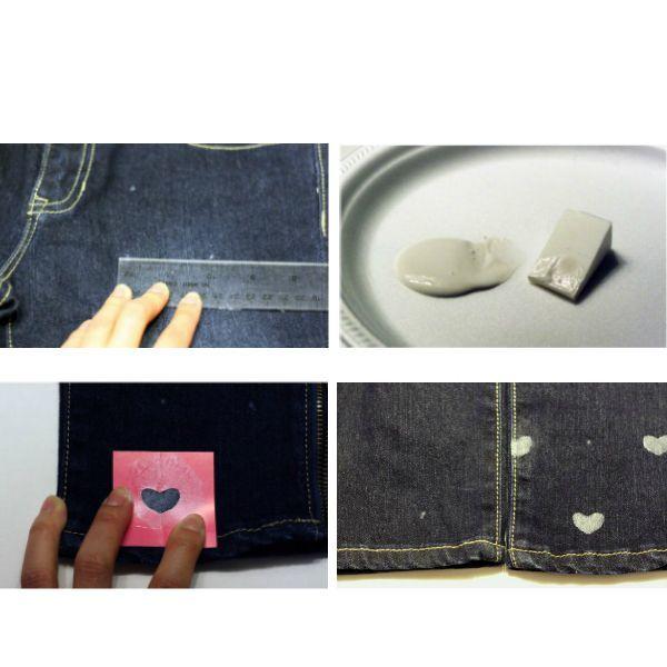 На куске картона нарисуйте сердце. Вы можете выбрать любую форму и размер, в зависимости от предпочтений. В емкость налейте краску и смочите в ней губку.