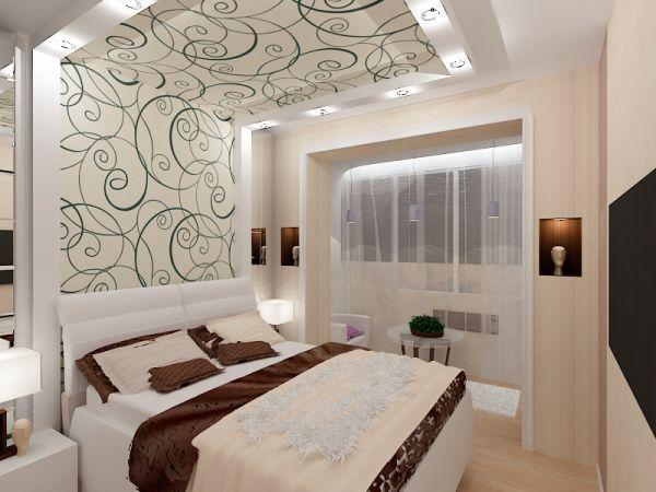 В первую очередь выбирайте цвет стен в спальне, а уже потом подбирайте мебель и напольное покрытие подходящих оттенков.