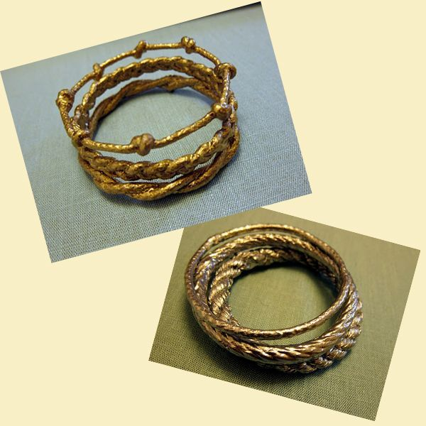 Для того чтобы создать такие браслеты, нам пригодятся любые шнуры или веревки, горячий клей, клей ПВА, акриловые краски и фантазия.