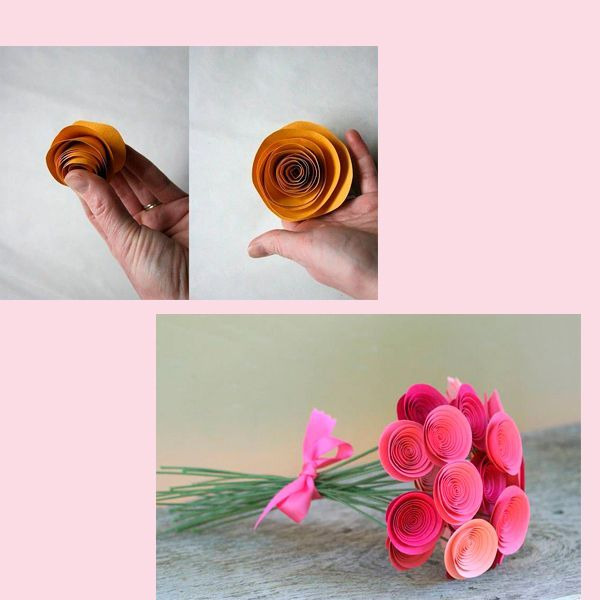 Начните скручивать получившуюся волнистую полосочку, начиная от края окружности. Для удобства можно использовать пустой стержень, гвоздик или зубочистку, обматывая полоску бумаги вокруг какого-нибудь тоненького предмета – будущий цветочек станет более симметричной формы.