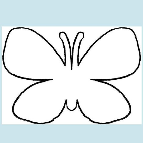 Пользуясь трафаретом, вырежьте из картона бабочек разного размера. Клеить их можно на двусторонний скотч. Лучше всего они смотрятся вокруг какого-то предмета (например, часов) или в углу комнаты.