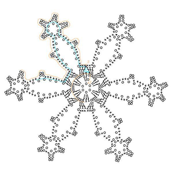 Из вязаных снежинок можно сделать панно. Для этого необходимо прикрепить их к основе - раме, обтянутой тканью желаемого цвета. Украсить такую композицию можно стразами, пайетками и другими элементами.