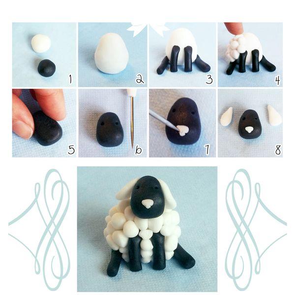Фигурку из полимерной глины можно оформить в виде елочной игрушки, статуэтки или брелка для ключей. Сделать такую совсем не сложно, следуя пошаговым фотографиям.