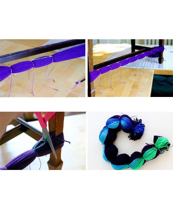 На одинаковом расстоянии перевяжите намотку нитками. Когда вся намотка будет перевязана, разрежьте намотку.