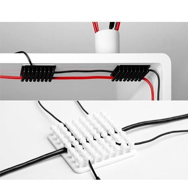 Можно закрепить свисающие провода под столешницей. Теперь они не будут вам мешать. Ваше рабочее место будет смотреться гораздо аккуратнее.