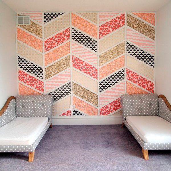 Если комната вытянутая и узкая, то длинные стены нельзя выделять теплыми и горячими цветами. Красный, оранжевый, желтый и даже не слишком темный коричневый цвет приблизят длинную стену, а все помещение визуально станет еще более тесным.
