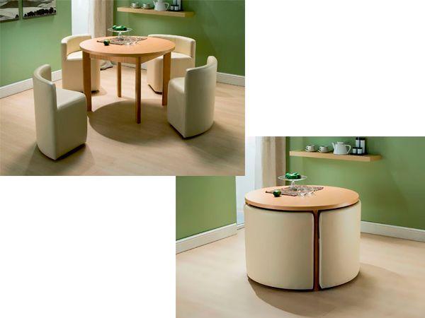 Если задвинуть эти сильные кресла под стол, вид стола становится более сильным и привлекательным. А сколько места можно сэкономить, использовав такую простую идею!