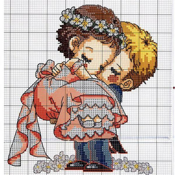 Влюбленная парочка - 16 схем