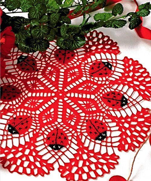 12 схем вязания салфеток крючком