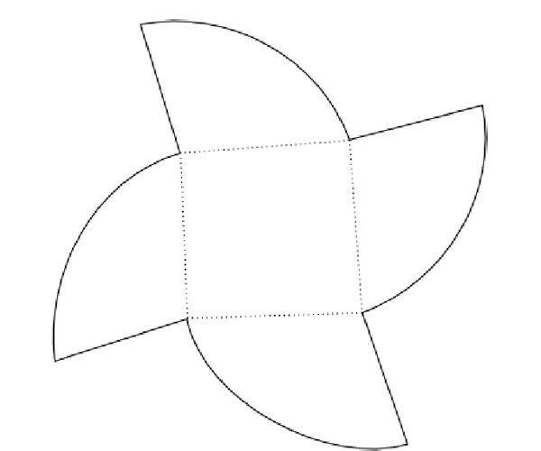 Перенесите на бумагу шаблон, подкорректировав до нужного размера. Вырежьте.