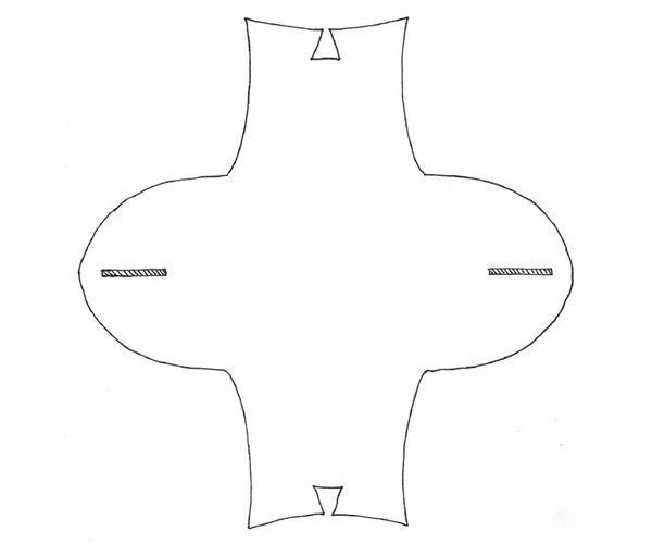 Распечатайте шаблон, предварительно увеличив его до нужного размера. Пропорции также можно менять.