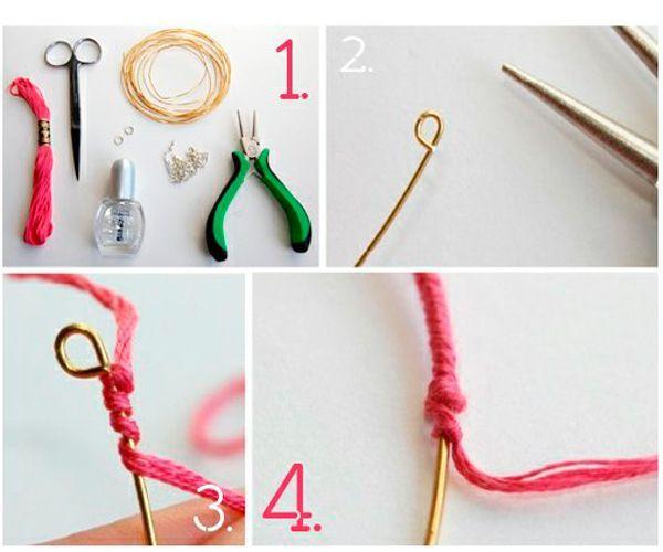 Чтобы сделать кулон в виде надписи, обмотайте проволоку плотно нитками-мулине.