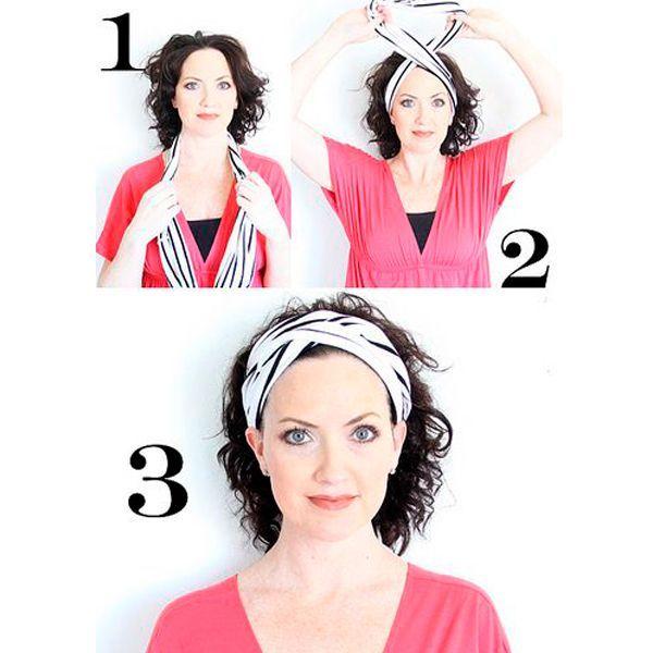 Из ткани сшейте кольцо, диаметр которого будет в 2 раза больше диаметра вашей головы. Хорошо, если ткань будет немного тянуться.