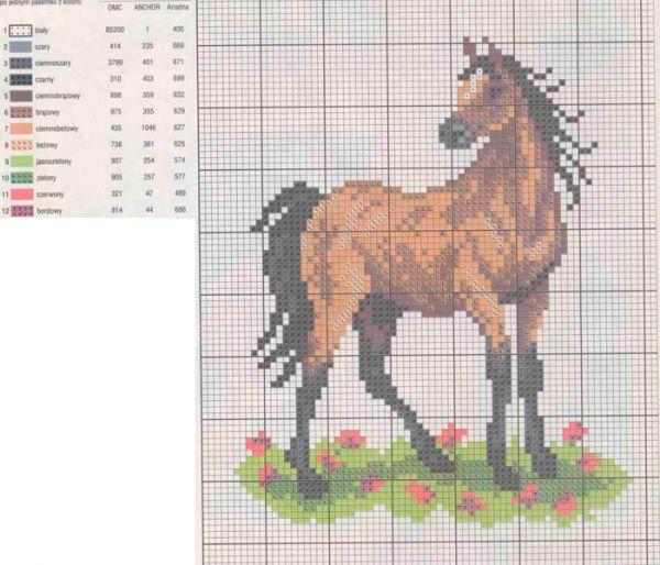 Скачать бесплатно вышивки кони