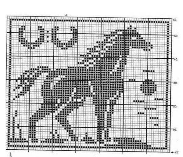 Вязание лошади спицами схемы