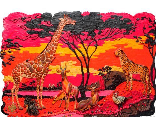 Креативные картины из пластилина