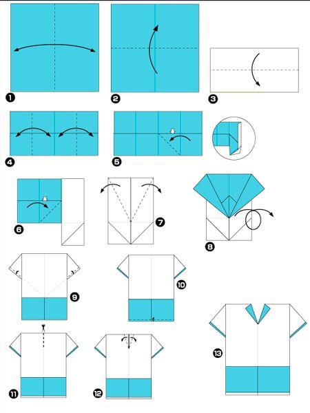 Оригами одежда, схемы. Информация с сайта http://www.tvoyrebenok.ru