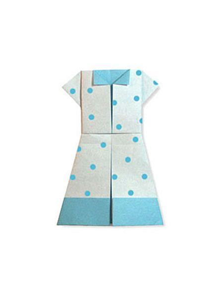 Оригами одежда — 24 схемы